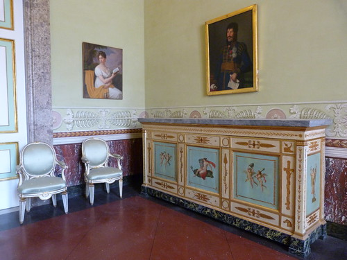 Reggia Caserta - Bourbon royal palace, state rooms, Caroline and Murat