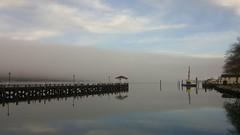 Fog over the bay (dylangaughan43) Tags: newyork reflection water fog harbor dock lg cloudsstormssunsetssunrises