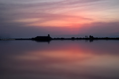 Sunset with salt (JdProject.it) Tags: sunset red italy sunlight hot color nature colors yellow colorful warm sundown image pics south sunny photograph di saline puglia margherita simmetry savoia apulia giovannidaddabbo