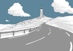 Ventoux wide (Binhex) Tags: france illustration comics cycling tour ventoux