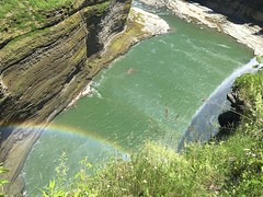 160614 Rainbow at Middle Falls (BY Chu) Tags: newyork genesee geneseeriver middlefalls letchworthsp thegorgetrail