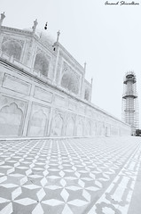 The Taj monochrome (Anand Shivalkar) Tags: monochrome nikon tajmahal tokina ultrawide sevenwonders 1116mm d7000