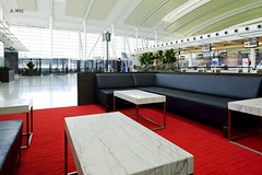 Sofa and red carpet (A. Wee) Tags: toronto canada airport counter lounge sofa yyz checkin businessclass aircanada