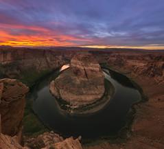 Horseshoe Bend (Brian Koprowski) Tags: sunset arizona panorama cliff nature beautiful river landscape nikon desert grandcanyon az panoramic canyon page coloradoriver d610 horseshoebend briankoprowski