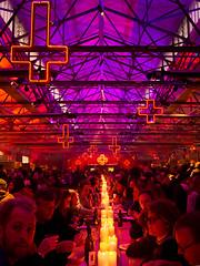 WINTER FEAST (eserehtM) Tags: red food cross wine solstice crucifix tasmania hobart lush romeoandjuliet winterfeast darkmofo