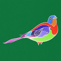 Bird - One (Green) (Hydrology) Tags: bird green color colour art design graphicdesign photoshop illustrator surfacepro4 blend vector