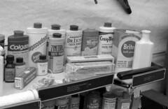 toothpastes (bergytone) Tags: bw film analog olympus 11 toothpaste 100 drugstore zuiko om2 xtol om2n kentmere 10min