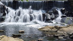Refreshing Falls (Lojones13) Tags: park longexposure newyork water river waterfall rocks outdoor