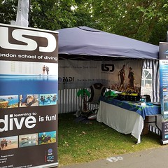 The LSD stall takes shape at #barnesfair #scuba #eastsheen #Barnes #PADI (lsdscuba) Tags: scuba lsd instagram ifttt