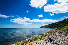Secret Beach Durlston - July 2016 (1 of 6).jpg (philipc) Tags: blue sea summer sky clouds rocks secretbeach cliffs dorset swanage durlston