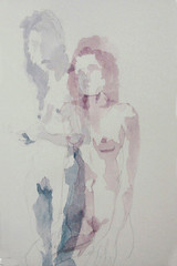 Em quantos lugares estamos (Julia Gil) Tags: watercolor moebius corpo aguada aquarela simultneo