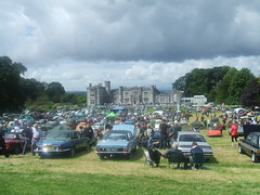 Leighton Hall Classic Car Show. (Bennydorm) Tags: greatbritain trees england sky people cars grass clouds hall lancashire motors vehicles event mansion crowds 18thcentury motorshow dwelling edifice carnforth leightonhall