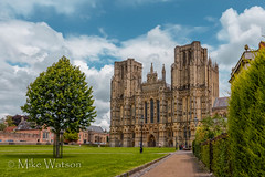 Wells Cathedral (WatsonMike) Tags: england buildings worship cathedral wells wellscathedral marketplace religiousbuildings ipsv2262