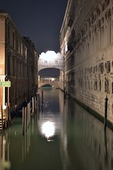 lonely bridge of sighs - venice, italy (christinathomas@att.net) Tags: venice italy fish color reflection water boats island canal colorful shadows grand palace moonlight piazza grandcanal sanmarco sangiorgio