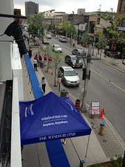 Rolling out the blue carpet (tukanuk) Tags: greenbean grandopening