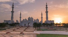 abu dhabi mosque sheikh zayed (Cem Bayir photography) Tags: sunset night canon exposure mosque abudhabi abu dhabi ae zayid sheikhzayedmosque shaich
