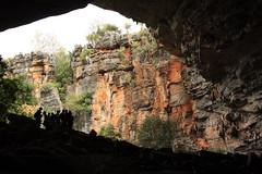 entering the cave (sandnfoam) Tags: travel brazil backlight contraluz rocks bahia cave geography geology fieldwork geografia geomorphology naturephotography iraquara grutadalapadoce