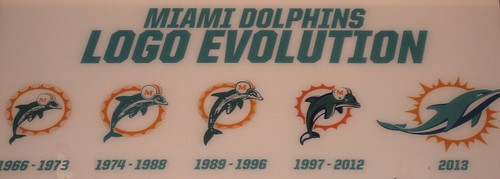 Miami Dolphin Logo Evolution