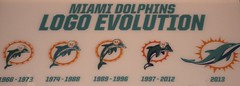 Miami Dolphin Logo Evolution (Desperado8) Tags: football miami nfl dolphins miamidolphins dolphinlogo