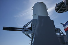 1210-USS-Iowa-090 (musematt11) Tags: california ca museum gun ship pacific wwii iowa cannon ww2 battleship usnavy usn uss radar sanpedro warship worldwar2 antiaircraft radome gatling phalanx ciws antimissile closeinweaponsystem bb61