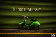 Where it all goes (tigerneil) Tags: green fruit club italian mod vespa market yorkshire scooter east hull custom mods piaggio scooterclub customised fruitmarket lamberetta