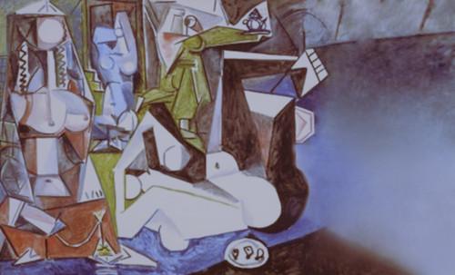 """Odaliscas (Mujeres de Argel) yuxtaposición y deconstrucción de Pablo Picasso (1955), síntesis de Roy Lichtenstein (1963). • <a style=""""font-size:0.8em;"""" href=""""http://www.flickr.com/photos/30735181@N00/8746882647/"""" target=""""_blank"""">View on Flickr</a>"""
