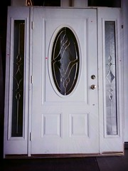 Oakland- White Exterior Door with Glass Window and Sidelights $425 (restoreEBSV) Tags: featured flickrandroidapp:filter=rome