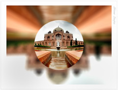 Humayun's Tomb in a bubble (Abhinav Singhai) Tags: vacation tourist nd bubble indiavacation nd110 nikond90 bwnd110 vacationtourist indiagetty