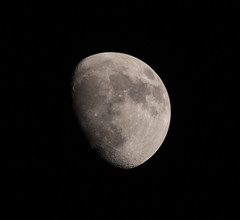 Waxing Gibbous - 78% Illuminated (StephenGA) Tags: moon waxinggibbous 2013 em5