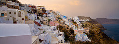 Oia view towards Imerovigli (Deon Lie) Tags: sunset holiday church santorini oia santorini2013
