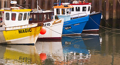 Fishing Fleet 1 (jack cousin) Tags: sea water boats yorkshire mooring scarborough ropes fishingboats moored