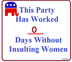 Official GOP War On Women Tracking Sign