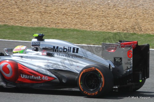 Sergio Perez in the 2013 British Grand Prix