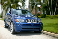 BMW X5 4.8is (MPowerPhotography) Tags: blue st 50mm florida f14 painted sigma mans le bmw pete 1ds moulding x5 48is 20x11