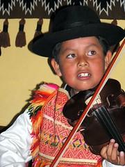 Pea evening (Linda DV) Tags: travel portrait people musician music 2004 southamerica barn children geotagged dance kid child bolivia kind andes criana enfant nio andean sucre dziecko bambino    lapsi copil dijete  dt    lindadevolder