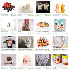 *CreEeepy Cute* by CarolineBacher (alleluja) Tags: rabbit bunny animal bug stuffed doll pin clown treasury caroline etsy creature cushion kewpie bacher waterbear