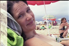 Spain 2013 - Retinette II - Beach Lisa (TempusVolat) Tags: gareth tempus volat tempusvolat mrmorodo spain 2013 holiday holidaysnaps spanish summerholiday summer wife woman girl brunette beautiful beauty pretty beautifulwife beautifulwoman prettywife attractive hair mole face shoulders torso tanned beach sand sea sunbathe sunbathing smile necklace neck lovelywife mywife mygirl gorgeouswife lovelylisa prettylisa goodlooking goodlooks spouse lover lovely love allure elegant bare should cleavage décolletage boobs voluptuous boob breast breasts demure scan scanner scanned scanning scans epson perfection v200 photoscanner epsonperfection topless lisa curvaceous nipple