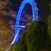 Night view of London Eye
