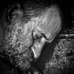 Sleeping (CorH) Tags: street city portrait people urban blackandwhite bw white black blackwhite belgium belgie candid streetphotography antwerp antwerpen straatfotografie corh
