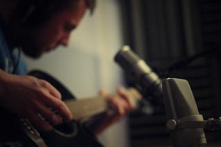 Paul, guitar and microphones