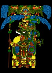 Great Mayan ruler of Tikal on his throne (Gwendal_) Tags: red art strange shirt temple weird sticker punk raw maya drawing outsider great tshirt mayan tikal brest bubble gwen ruler throne lowbrow breton lintel artiste brut trange gwendal centrifugue graphiste gwenboul figurationlibre uguen tiklan gwendalorg centrifuguefr