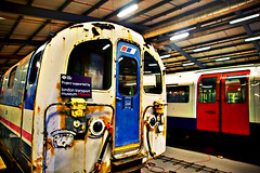 LT Museum Depot (forayinto35mm) Tags: uk england london underground metro sony transport tube trains londonunderground thetube lt londontransport tfl carlzeiss actontown londontransportmuseumdepot sonyalpha ltmuseum sonya77 sonyalpha77 dw13adult ltmdepotdec