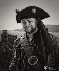 Try my rum! (Dennis Cluth) Tags: monochrome coast costume pirate
