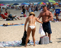 Orchard Beach, Pelham Bay Park, Bronx, New York City (jag9889) Tags: park city nyc people ny newyork beach island bay sand long bronx orchard sound umbrellas sunbathing pelham longislandsound nycparks pelhambay orchardbeach 2011 y2011 jag9889