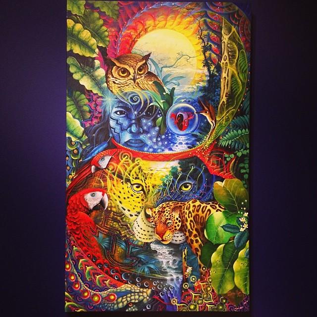 """Deny Efer Ríos Chávez """"Usko Ayar"""" • """"La escuela de las Visiones"""" #art #arteenlima #artinlima #arte #artist #artista #painting #pintura"""