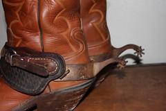 SPUR SHOTS (AZ CHAPS) Tags: ranch spurs cowboy boots leathers