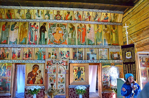 Iconostasis of the Church of Intercession of the Virgin, Kizhi Pogost, Northern Russia