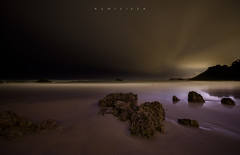 Black sky (Ahio) Tags: longexposure nightphotography sea seascape beach zeiss landscape nikon nocturnal darkness january paisaje shore nocturnas 15mm llanes 2014 niembro marcantbrico toranda zf2 distagont2815 d800e