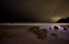 Black sky (Ahio) Tags: longexposure nightphotography sea seascape beach zeiss landscape nikon nocturnal darkness january paisaje shore nocturnas 15mm llanes 2014 niembro marcantábrico toranda zf2 distagont2815 d800e