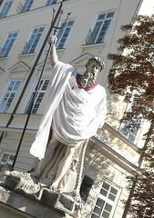 Neptune (konyskiw) Tags: sculpture statue lviv ukraine independenceday neptune lvov vyshyvanka rynoksquare embroideredshirt